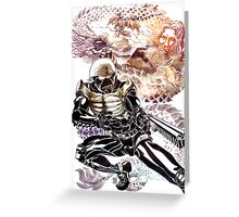 Hakaida Black Greeting Card