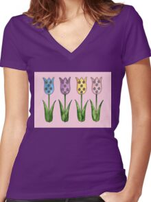 Tulip Row Women's Fitted V-Neck T-Shirt