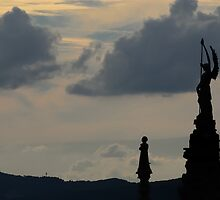 Archangel Michael Looks Out Over Siena by Blagnys