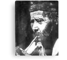 Old Man Smoking Canvas Print