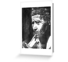 Old Man Smoking Greeting Card