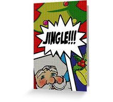 Pop Art Jingle Bells Greeting Card