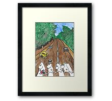 Moomins Parody Abbey Road  Framed Print
