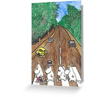 Moomins Parody Abbey Road  Greeting Card