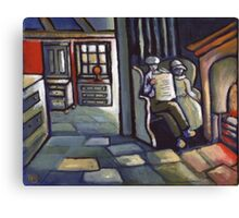 Home sweet home (from my original acrylic painting ) Canvas Print