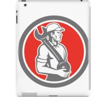 Mechanic Spanner Wrench Side Circle Retro iPad Case/Skin