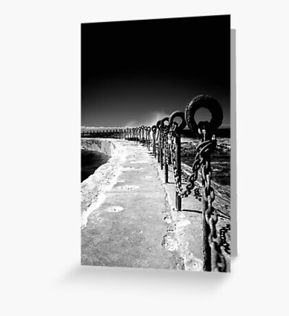 Chains & Posts Greeting Card