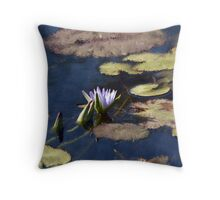 Waterlilies on the Lake Throw Pillow