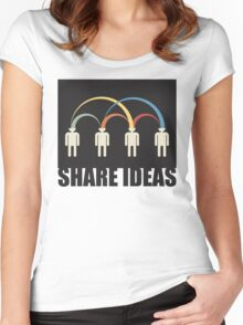 share ideas Women's Fitted Scoop T-Shirt