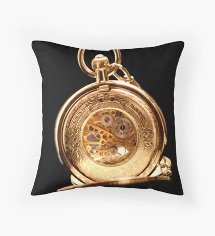back view fob watch Throw Pillow