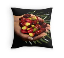 Hand of Olives Throw Pillow