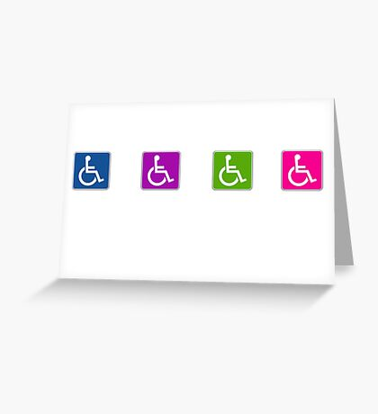 handicap stickers Greeting Card
