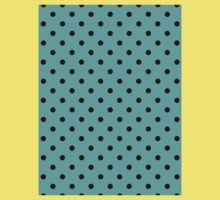 Polkadots Black and Turquoise Kids Clothes
