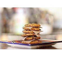 Oatmeal Chocolate Chip Cookies Photographic Print