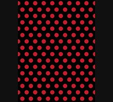 Polkadots Black and Red Unisex T-Shirt
