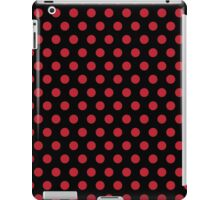 Polkadots Black and Red iPad Case/Skin