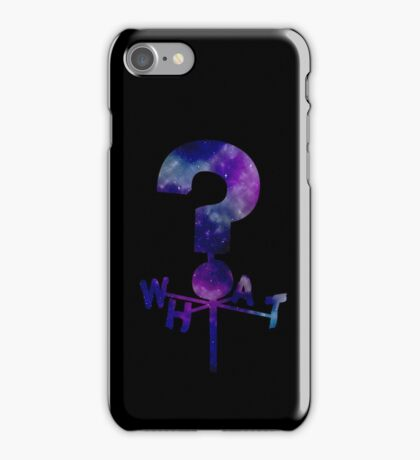 The Mystery Shack Question Mark Weathervane iPhone Case/Skin
