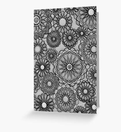 Gray Scale Floral Greeting Card