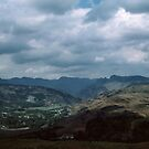 View from Loughrigg Fell Lake District England 198405200030 by Fred Mitchell