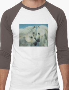 Three Horses Men's Baseball ¾ T-Shirt