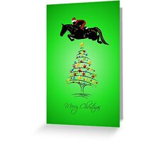 Fun Horse Jumping Christmas Greeting Card