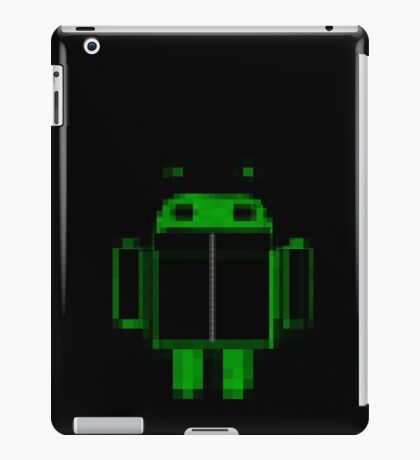 Black hoody droid iPad Case/Skin