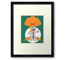 Science goes Boom! Framed Print