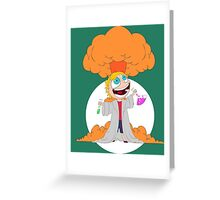 Science goes Boom! Greeting Card