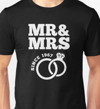 50th Wedding Anniversary Gift T-Shirt Mr & Mrs Since 1967 Unisex T-Shirt