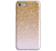 Peach Pink Sparkles Ombre iPhone Case/Skin
