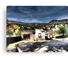Original Bathhouse in Jemez Springs, New Mexico Canvas Print
