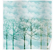 Clouds and Trees Poster