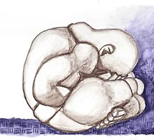 WEEPING BUDDHA  by dkatiepowellart