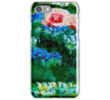 Little Lamb Sleeping in the Garden Red by Marie-Jose Pappas iPhone Case/Skin
