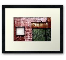 Old building facade, Richmond Framed Print