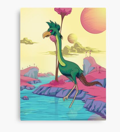 Space Bird. Canvas Print