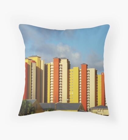 Colorful southern architecture Throw Pillow