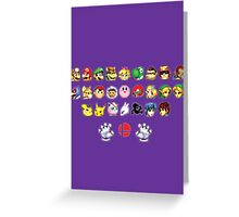Melee Sprites Greeting Card