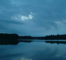 clouds over lake by Quintin08