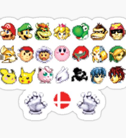 Melee Sprites Sticker