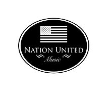 Nation United Music Logo Black Flag Reserve (B/W) Photographic Print