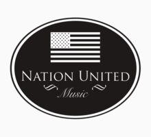 Nation United Music Logo Black Flag Reserve (B/W) by NationUnitedMus