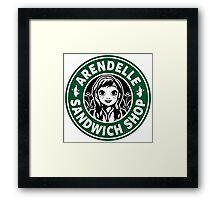 Arendelle Sandwich Shop Framed Print