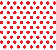 Polkadots Red and White by Medusa81