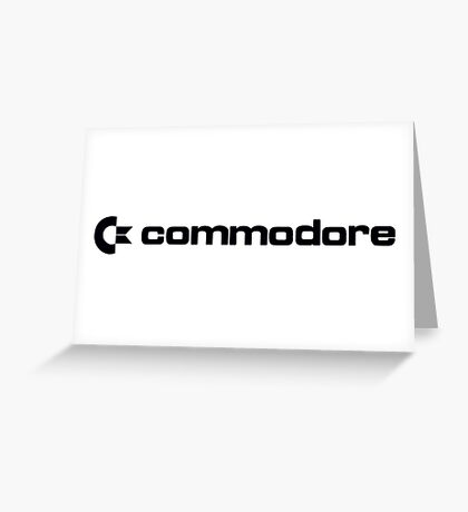 Commodore Logo (Black) Greeting Card