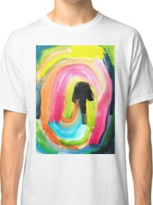 colorful Abstract Painting in WaterColor Classic T-Shirt