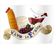Basket of Delicious French Treats Poster