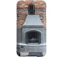 Outdoor Patio With Fireplace Samsung Galaxy Case/Skin