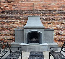 Outdoor Patio With Fireplace by Cynthia48