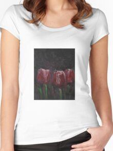 Saucy Tulips Women's Fitted Scoop T-Shirt
